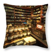 Tobacco Jars Throw Pillow by Yhun Suarez