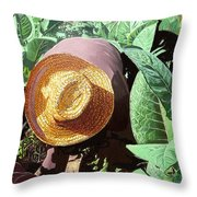 Tobacco Picker Throw Pillow by Jose Manuel Abraham