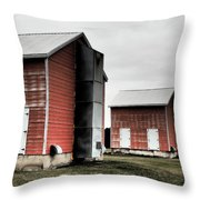 Tobacco Sheds Throw Pillow