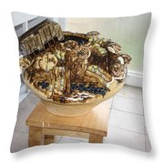 Tobacco Trials View 2 Throw Pillow