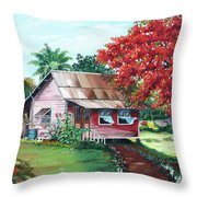 Tobago Country House Throw Pillow