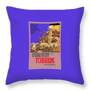 Tobruk Theatrical Poster 1967 Color Added 2016 Throw Pillow