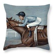 Tod Sloan (1874-1933) Throw Pillow