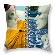 Today And Tomorrow Throw Pillow