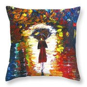 Today I Walk Alone Throw Pillow