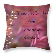 Todays Seeds Tomorrows Rainbows Throw Pillow