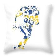 Todd Gurley Los Angeles Rams Pixel Art 30 Throw Pillow