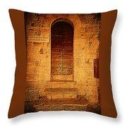 Todi Italy Medieval Door  Throw Pillow