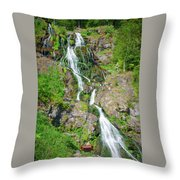 Todtnau Waterfall, Black Forest, Germany Throw Pillow