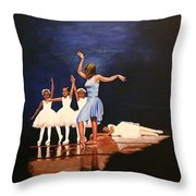 Toe Dancer Throw Pillow