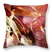 Toe Shoes Throw Pillow