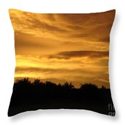 Toffee Sunset Throw Pillow