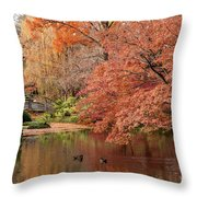 Together In Fall Throw Pillow