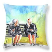 Together Old In Italy 02 Throw Pillow