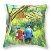 Together Old  In Italy 07 Throw Pillow by Miki De Goodaboom
