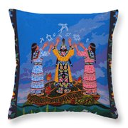 Together We Over Come Obstacles Throw Pillow