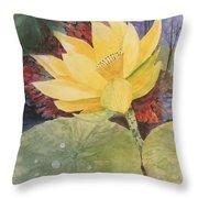 Tohopekaliga Lotus 2 Throw Pillow