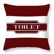 Toilet Station Name Sign Throw Pillow