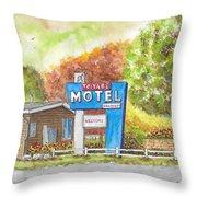 Toiyabe Motel In Walker, California Throw Pillow