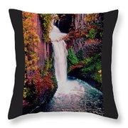 Tokeetee Falls Throw Pillow