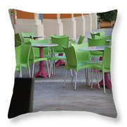 Token Chair Throw Pillow