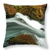 Toketee Falls 8 Throw Pillow