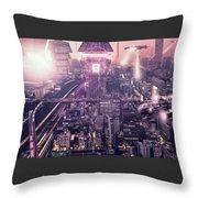 Tokyo 3017 #4 Throw Pillow