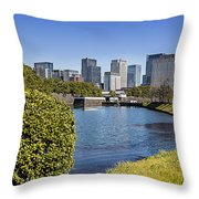 Tokyo From The Palace Throw Pillow