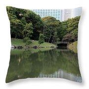 Tokyo Japanese Garden Throw Pillow