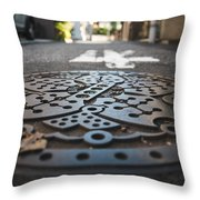 Tokyo Sewer Cover Throw Pillow