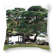 Tokyo Tree Throw Pillow