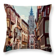 Toledo Cityscape Throw Pillow