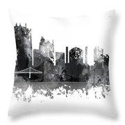 Toledo Ohio Skyline Throw Pillow