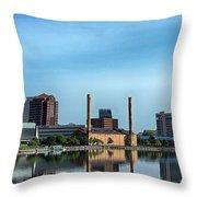 Toledo Skyline Throw Pillow