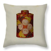 Toleware Tea Caddy Throw Pillow