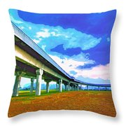 Toll Road Throw Pillow