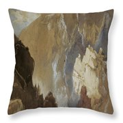 Toltec Gorge And Eva Cliff From The West, Colorado, 1892 Throw Pillow