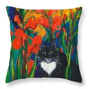 Tom And Gladioli Throw Pillow
