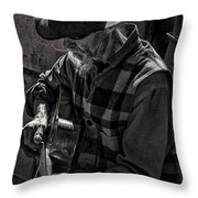 Tom And His Steel Guitar Throw Pillow