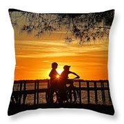 Tom And Huck Throw Pillow