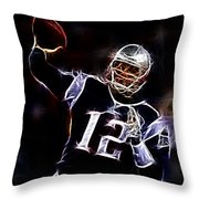Tom Brady - New England Patriots Throw Pillow