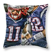 Tom Brady Art 1 Throw Pillow