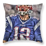 Tom Brady Art 5 Throw Pillow