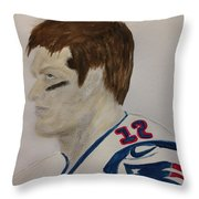 Tom Brady Determined Throw Pillow