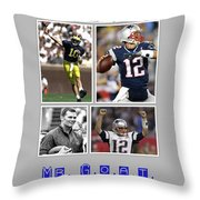 Tom Brady Football Goat Throw Pillow