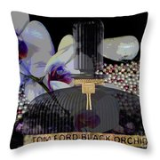Tom Ford Black Orchid Throw Pillow
