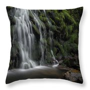 Tom Gill Waterfall, Cumbria, England Throw Pillow