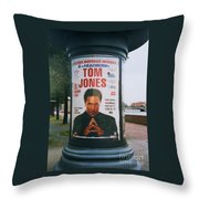 A Rare Collectible Poster Of Tom Jones In Russia Throw Pillow