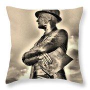 Tom Landry Sepia Throw Pillow