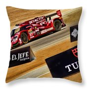 Tom Long And Joel Miller Tudor United Sportcar Championship Throw Pillow